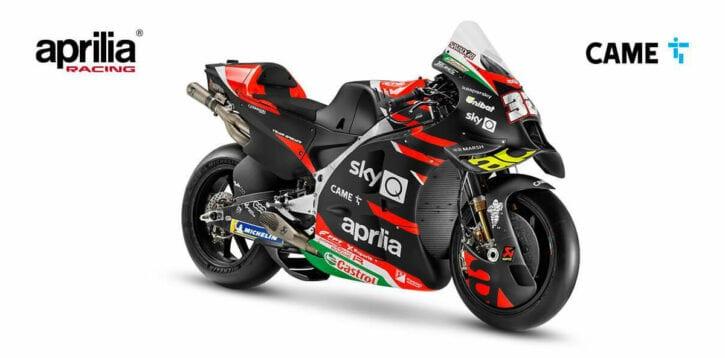 CAME torna in sella nel Campionato MotoGP con Aprilia Racing
