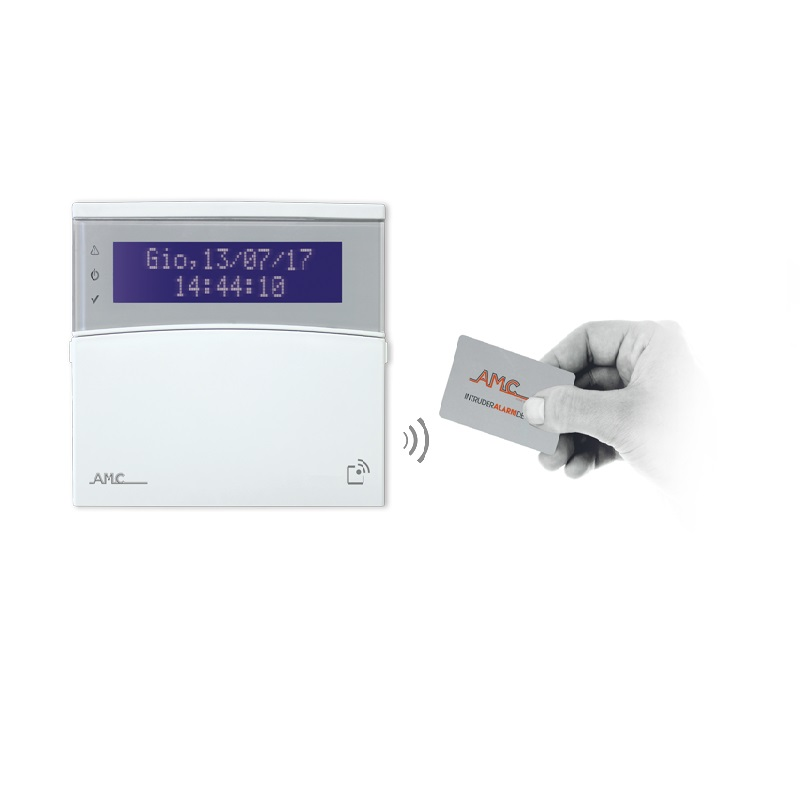 AMC – K-LCD BLUE TAG – Tastiera allarme con lettore RFID/NFC